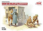 WWI US Medical Personnel (4) (New Tool) -- Plastic Model Military Figure Kit -- 1/35 Scale -- #35694
