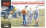 German Luftwaffe Ground Personnel 1939-45 (7) -- Plastic Model Military Figure -- 1/48 -- #48085