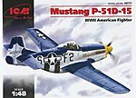 WWII P51D15 Mustang USAF Fighter -- Plastic Model Airplane Kit -- 1/48 Scale -- #48151