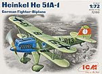 Heinkel He51A1 Fighter -- Plastic Model Airplane Kit -- 1/72 Scale -- #72193