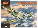 WWII USAAF Spitfire Mk VIII Fighter -- Plastic Model Airplane Kit -- 1/48 Scale -- #48065