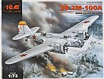WWII SB2M100A Soviet Bomber -- Plastic Model Airplane Kit -- 1/72 Scale -- #72162