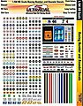 UltraCal Hi-Def Decals- Racing Numbers & Roundels -- Slot Car Decal -- 1/64 Scale -- #3100