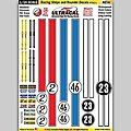 1/24 Peel & Stick Decals- Racing Stripe & Roundel Style 1 -- Slot Car Decal -- #64031