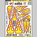 1/24 UltraCal Hi-Def Peel & Stick Decals- Airbrushed Styled Flames -- Slot Car Decal -- #64082