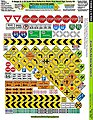 1/32 & O Ultra Reflect PhotoReal Metal Signs Variety -- Slot Car Decal -- #7300