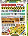 1/24 Ultra Reflect PhotoReal Metal Signs Variety -- Slot Car Decal -- #7400
