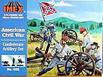 Confederate Artillery Civil War Figure Set -- 1/72 Scale Plastic Model Military Figure -- #502