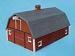 Stengel's Barn Assembled Perma-Scene -- HO Scale Model Railroad Building -- #6102