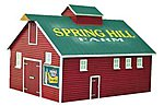Barn II Assembled Perma-Scene -- HO Scale Model Railroad Building -- #6131