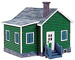 Country Cottage Assembled Perma-Scene -- HO Scale Model Railroad Building -- #6149