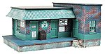 Ice House/Factory Assembled Perma-Scene -- HO Scale Model Railroad Building -- #6150