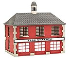 Firehouse Assembled Perma-Scene -- N Scale Model Railroad Building -- #6305