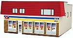 Convenience Store Assembled Perma-Scene -- N Scale Model Railroad Building -- #6325
