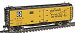 40' Steel Ice Reefer - Ready to Run - Santa Fe -- HO Scale Model Train Freight Car -- #46118