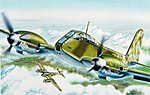 Me-410 Hornisse -- Plastic Model Airplane Kit -- 1/72 Scale -- #0074