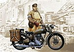 WWII Triumph 3WH Motorcycle -- Plastic Model Motorcycle -- 1/9 Scale -- #07402