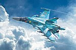 Sukhoi SU-34/32 Fullback -- Plastic Model Airplane Kit -- 1/72 Scale -- #1379s