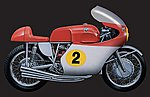 1964 MV Agusta 4 Cylinders 500cc -- Plastic Model Motorcycle Kit -- 1/9 Scale -- #4630s