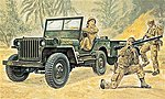 Jeep -- Plastic Model Military Vehicle Kit -- 1/35 Scale -- #550314