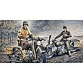 US Motorcycles WWII Normandy -- Plastic Model Motorcycle Kit -- 1/35 Scale -- #550322