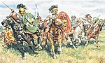 Roman Cavalry -- Plastic Model Military Figure Kit -- 1/72 Scale -- #556028