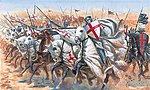Medieval Era Templar Knights -- Plastic Model Military Figure Kit -- 1/72 Scale -- #556125