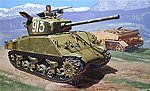 M4A2 76mm Wet Sherman Tank -- Plastic Model Military Vehicle Kit -- 1/35 Scale -- #556483