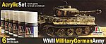 WWII Military German Army 6 Color Asst Acrylic