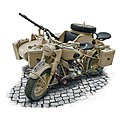 BMW R75 German Military Motorcyle -- Plastic Model Military Vehicle Kit -- 1/9 Scale -- #7403s