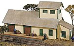 Hubermill Warehouse Kit -- Model Railroad Building -- N Scale -- #120