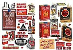 Alcohol & Tobacco & Chewing Gum 1940's and 1950's -- Model Railroad Billboards -- HO Scale -- #185