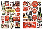 Vintage Soft Drink Signs 1930's to 1960's -- Model Railroad Billboards -- HO Scale -- #197