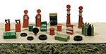 Deluxe Gas Station Detail Set -- Model Railroad Building Accessory -- N Scale -- #2181
