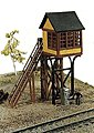 Avon St. Elevated Crossing Gate Tower -- Model Railroad Building -- N Scale -- #240