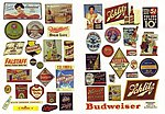 Vintage Beer & Alcohol Signs -- Model Railroad Building Accessories -- HO Scale -- #263