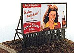 Fence Base Billboards Kit -- Model Railroad Billboard -- HO Scale -- #276