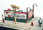 Sidewalk Lattice Billboards Kit -- Model Railroad Signs -- HO Scale -- #277
