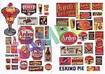 1940's to1950's Ice Cream Soda Fountain Signs -- Model Railroad Billboard -- HO Scale -- #422