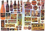 Unusual Soft Drink Signs Series -- Model Railroad Billboard -- HO Scale -- #425