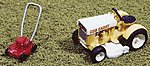 Riding Mower & Push Mower Unpainted -- Model Railroad Building Accessory -- HO Scale -- #452