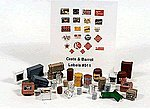Deluxe Gas Station Interior Detail Set -- Model Railroad Building Accessory -- HO Scale -- #511