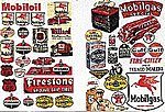 Gas Station & Oil Company Posters & Signs -- Model Railroad Billboard -- N Scale -- #685