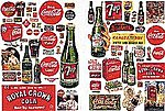 Vintage Soft Drink Posters & Signs -- Model Railroad Billboard -- N Scale -- #697