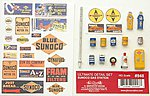 Ultimate Sunoco Gas Station Detail Set -- HO Scale Model Railroad Building Accessory -- #948