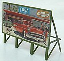 Custom Billboard 1950s Auto -- Model Railroad Sign -- HO Scale -- #978