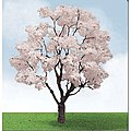 Blossoming Cherry Trees -- HO Scale Model Railroad Tree -- #92321