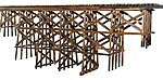 Wood Timber Trestle Kit (18 x 16'') -- HO Scale Model Railroad Bridge -- #2014