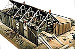 Lucas Sawmill Kit -- HO Scale Model Railroad Building -- #2021