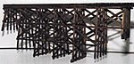 Timber Trestle Bridge (Builds up to 16 x 18'') -- O Scale Model Railroad Bridge -- #4014